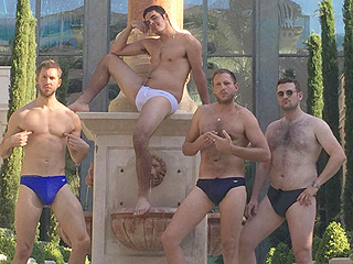 Holy Speedo! Calvin Harris' Many 'Leg Days' at the Gym Are Clearly Paying Off