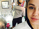 No Questions Here! Miley Cyrus Wears a 'Hemsworth' T-Shirt