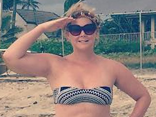 Amy Schumer Enjoys Fourth of July in Patriotic Bikini Snap