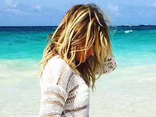 Bikini-Clad Chloë Grace Moretz Does Her Best Baywatch Slo-Mo During Dominican Republic Vacation