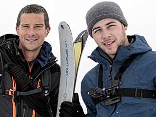 How Did Bear Grylls Convince Nick Jonas to Go Shirtless in Freezing Water?