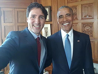 'Four More Years!' Bromance Still Hot Between President Obama and Canadian PM Justin Trudeau