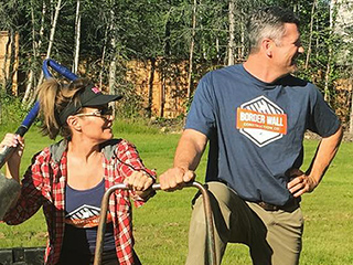 Sarah and Todd Palin and Son-in-Law Dakota Meyer Wear 'Border Wall Construction Co.' Shirts in New Photo