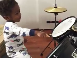 1-Year-Old Plays Drums Better Than We Do Anything