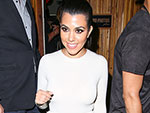 Kourtney Kardashian Hangs Out with Quincy Combs at GQ Party