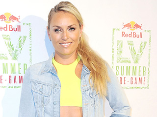 Lindsey Vonn Parties Poolside in a Bikini with Jeremy Piven