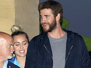 Miley Cyrus Holds On Tight to Liam Hemsworth During Romantic Dinner in Malibu