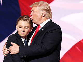 Past His Bedtime! Donald Trump's Lookalike Son Barron, 10, Couldn't Stop Yawning at the RNC Last Night