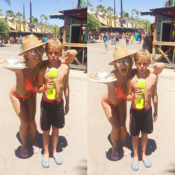 Britney Spears water park sons