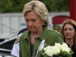 'We Have a Lot of Work Ahead of Us': Hillary Clinton Lays Flowers at Pulse Nightclub to Honor 49 Victims