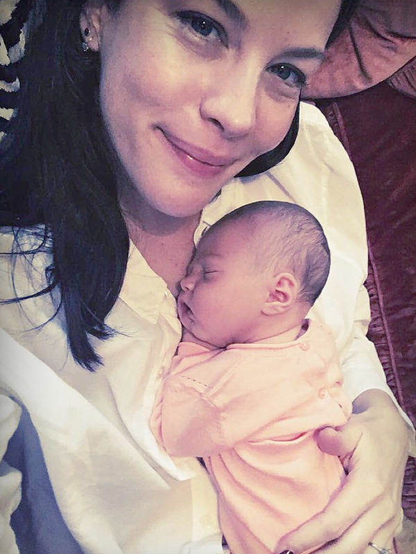 Liv Tyler Lula Rose Sleeping Instagram