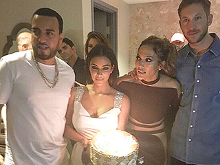What Would Taylor Say? Kim Kardashian and Calvin Harris Celebrate Jennifer Lopez's Birthday in Vegas