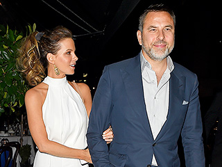 Kate Beckinsale Links Arms with David Walliams After Grabbing Dinner in London