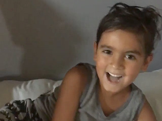 'It Really Hurt!' Watch Mason and Reign Disick Reenact 'Charlie Bit My Finger' Video for Khloé Kardashian