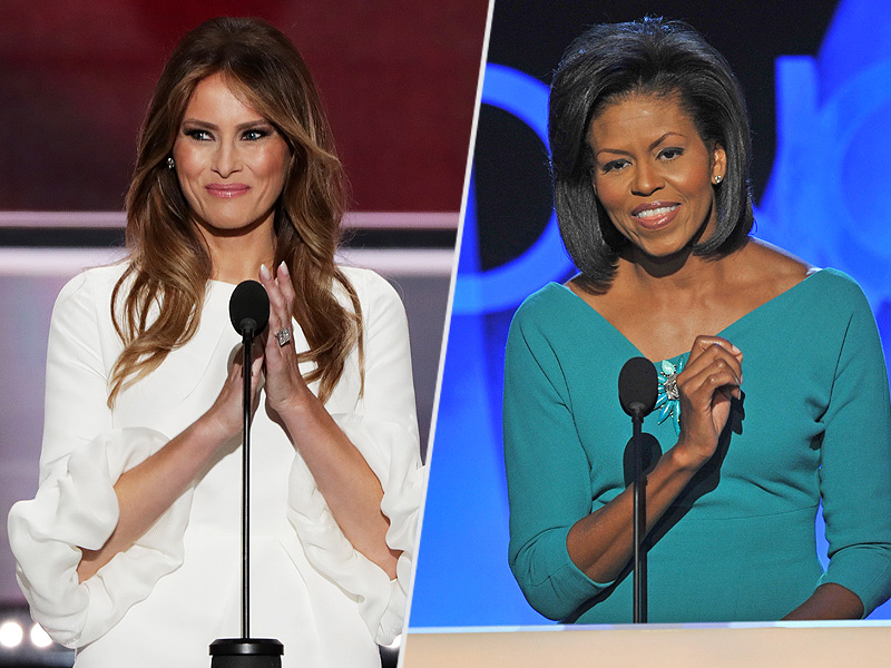 Melania Trump at the RNC: Read the Full Transcript of Her Speech Side-by-Side with Michelle Obama's| 2016 Presidential Elections, Politics, Donald Trump, Melania Trump, Michelle Obama