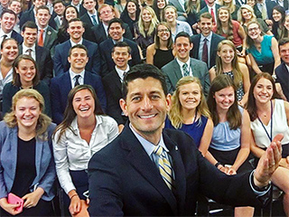 Paul Ryan Mocked for Selfie with More Than 100 Capitol Hill Interns – Almost All of Whom Are White
