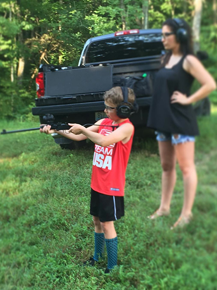 Bristol Palin Reveals She Took Her Son Tripp Shooting in Instagram Post: 'Teaching Them Young'