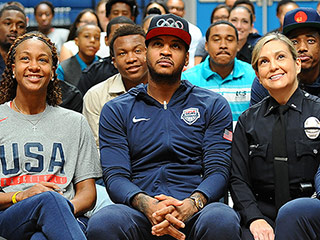 Carmelo Anthony Hosts Town Hall on Gun Violence for Students, Basketball Players and Police