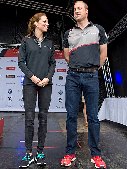 Kate Middleton And Prince Williams Casual America S Cup