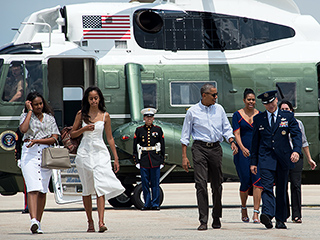 Up, Up and Away! The Obamas Head to Martha's Vineyard for a 2-Week Family Vacation