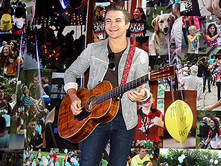 Hunter Hayes Surprises Kids at Camp for Children Who've Lost a Parent or Sibling Serving in the Military