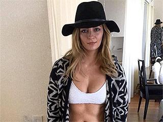 Mischa Barton Flaunts Her Toned Tummy in White Bikini