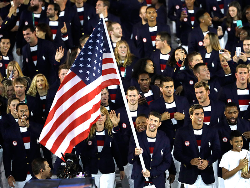 Opening Ceremony: Team USA Makes Entrance to 2016 Rio Games