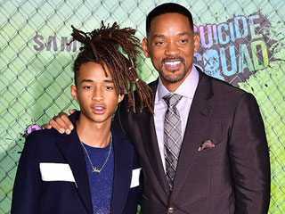Will Smith Attends Suicide Squad Premiere with Son Jaden, Dishes on Creating the Perfect On-Set Environment