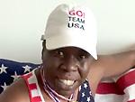 Leslie Jones Cheers on the U.S. Olympic Swim Team – with Matthew McConaughey!