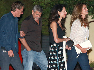 Double Date Dream Team! The Clooneys Grab Sushi with Cindy Crawford and Rande Gerber in Malibu