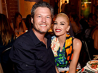 Gwen's Biggest Cheerleader! Blake Shelton Rocks Out While Watching Gwen Stefani Perform at a Charity Event