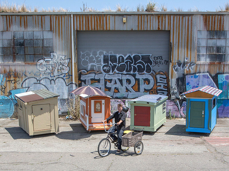 Gregory Kloehn Builds Portable Shelters For Oakland S