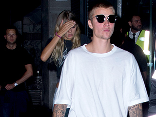 Where's Sofia Richie? Justin Bieber Parties with Rihanna and a Blonde Friend in London