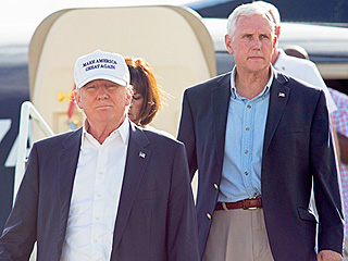 Donald Trump and Mike Pence Tour Louisiana Flood Damage Amid Criticism of President Obama's Decision to Remain on Vacation