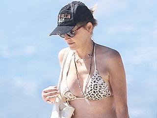 Fit at 58! Sharon Stone Shows Off Fab Figure in Sexy Animal-Print Bikini in Venice Beach