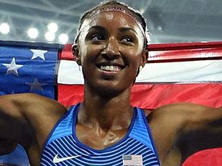 U.S. Women Make History as Runners Sweep Medals in 100-Meter Hurdles
