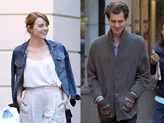 Emma Stone and Andrew Garfield Step Out Together in London but Are 'Definitely Not Dating,' Says Source