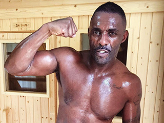 Idris Elba Flexes His Bicep in Steamy (and Shirtless!) Post-Workout Selfie