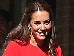 Princess Kate in Red as She and Prince William Visit Helpline for Troubled Kids