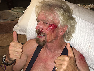 Billionaire Richard Branson Says He Cheated Death After Violent High-Speed Bike Crash: 'My Life Flashed Before My Eyes'