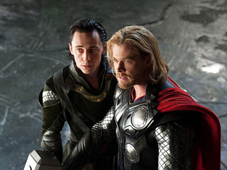 FROM EW: Thor Stars Chris Hemsworth and Tom Hiddleston Visit Children's Hospital