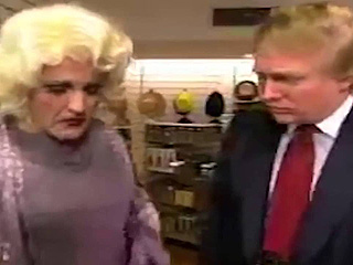 Campaigning's a Drag: Unearthed Sketch Features Donald Trump Flirting with Rudy Giuliani Dressed as a Woman