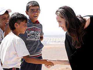 Angelina Jolie Pitt Calls for U.N. Leaders to Address the Syrian Conflict While Meeting with Refugee Families