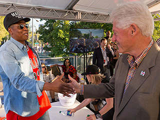Bill Clinton Makes Surprise Visit to Jay Z's Music Festival to Encourage Young Voters