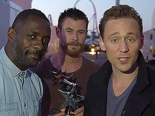 Chris Hemsworth and Idris Elba Make Surprise Guest Appearances at Tom Hiddleston's Acceptance Speech