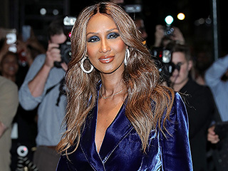 Iman Talks About David Bowie's Death for the First Time as She Steps Out for Fashion Week with 'David' Necklace