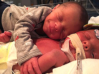 Infant in Viral Photo of Newborn Twins Hugging Dies: 'We Know He's No Longer Suffering,' Says Family