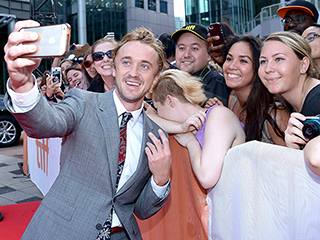The Magic Touch! Harry Potter Actor Tom Felton Mobbed by Fans at Toronto Premiere