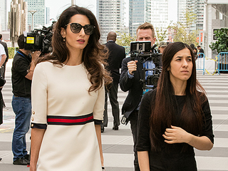 Amal Clooney Denouces ISIS 'Genocide' in Emotional Speech While Introducing Yazidi Survivor at UN