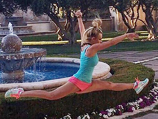 Britney Spears Showcases Her Flexibility as She Does the Splits Mid-Air In Impressive Instagram Snap